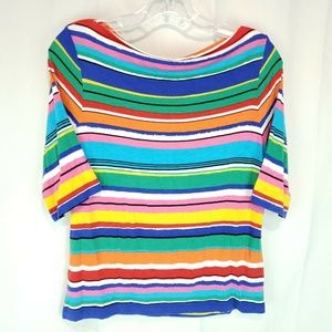 Ruby Road Women's Blouse Size PM Multi-color